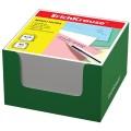 Блок для записей ERICH KRAUSE в подставке картонной зеленой, куб, 8х8х5 см, белый, 36980