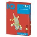 Бумага IQ (АйКью) color А4, 160 г/м, 250 л., интенсив кораллово-красная CO44 ш/к 00976