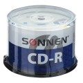 Диски CD-R SONNEN, 700 Mb, 52x, Cake Box, 50 шт., 512570
