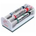 """Набор для магнитно-маркерной доски PENTEL (Япония) """"Maxiflo"""" (магнитный стиратель, 4 маркера), MWL5S-4N"""