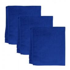 """Тряпки для мытья пола из микрофибры ЛЮБАША """"Эконом"""", комплект 3 шт., 50х60 см, цвет - синий, 603944"""
