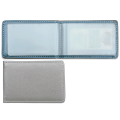 Визитница однорядная GALANT, на 20 визиток, перламутровый бархат, серебристая