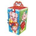 """Подарок новогодний """"Праздник"""", 650 г, НАБОР конфет и пр. ассорти, картонная коробка, ш/к 17578"""