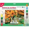 """Картина по номерам Greenwich Line """"Осенний парк"""" A3, с акриловыми красками, картон, европодвес"""