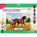 """Картина по номерам Greenwich Line """"Лошади"""" A3, с акриловыми красками, картон, европодвес"""