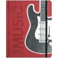 """Дневник для музыкальной школы 48л. (твердый) """"Applique-Гитара"""", иск. кожа,тон.блок, ляссе,аппликация"""