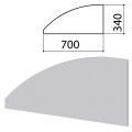 """Экран-перегородка """"Монолит"""", 700х16х340 мм, цвет серый"""