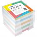 Блок для записей OfficeSpace в подставке прозрачной, куб 9-9х9, 60г/м, цветной, Р 162004