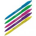"""Ручка шариковая автоматическая Berlingo """"Triangle 110 RT Color"""" синяя, узел 0,7мм, толщина 0,5мм трехгр., игол.стержень, CBm_07120"""