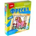 """Фреска-картина из песка """"Любопытная лошадка"""", 23х20 см, цветной песок, картонная рамка, LORI, Кп-005"""