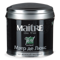 Чай MAITRE (МЭТР) «Мэтр де Люкс», зеленый, листовой, жестяная банка, 65 г