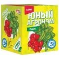 """Набор для выращивания растений ЮНЫЙ АГРОНОМ """"Редис"""", горшок, грунт, семена, LORI, Р-013"""