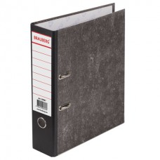 Папка-регистратор BRAUBERG фактура стандарт, с мраморным покрытием, 80 мм, черный корешок, 220987