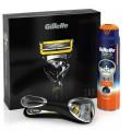 Промонабор: Бритва GILLETTE Fusion Proshield с 1 смен.касс. + Гель д/бритья 170мл Proglide Sensitive
