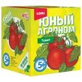 """Набор для выращивания растений ЮНЫЙ АГРОНОМ """"Томат"""", горшок, грунт, семена, LORI, Р-015"""