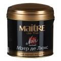 "Чай MAITRE (МЭТР) ""Мэтр де Люкс"", черный, листовой, ж/б, 100г, бар165р"