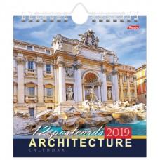 Календарь-домик 2019г HATBER, на гребне с ригелем, 160х170мм, Архитектура, 12КД5гр_13163(K285084)