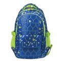 Рюкзак BRAUBERG молодежный, Сердечки, нейлон, синий, 31х12х45 см, 227073