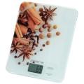 """Весы кухонные POLARIS PKS 0832DG """"Специи"""", электронный дисплей, max вес 8кг, тарокомпенсация, стекло"""