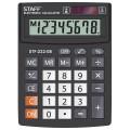 Калькулятор STAFF PLUS настольный STF-222, 8 разрядов, двойное питание, 138x103мм