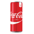 Напиток газированный COCA-COLA (Кока-кола), 0,33л, ж/б