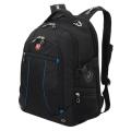 Рюкзак WENGER (Швейцария), универсальный, черный, синие вставки, 32 литра, 36*19*47 см, 3118203408