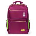 Рюкзак TIGER FAMILY (ТАЙГЕР) для старшеклассниц/студенток, дев.., фуксия/салатовый, 47*32*16см, 24 л. 81106B