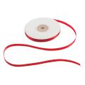 Лента обвязочная атласная для прошивки документов, ширина 6 мм, 4*25м (100м), +/- 5%, КРАСНАЯ
