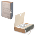 Короб архивный STAFF, 8 см, переплетный картон, корешок - бумвинил, 2 х/б завязки, до 700л