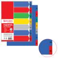 Разделитель пластиковый BRAUBERG А4+, 7 листов, по дням Пон-Воск, оглавление, Цветной, РОССИЯ