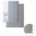Разделитель пластиковый BRAUBERG А4, 20 листов, цифровой 1-20, оглавление, Серый, РОССИЯ