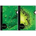 "Папка-уголок с рисунком ""Хатбер"" HD, А4, iFRESH-green, ассорти, 0,18 мм"