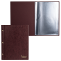 """Папка """"Меню"""" на трех винтах с 10 ф., 220*320мм, коричневая, ДПС"""