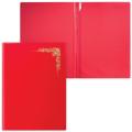 """Папка адресная ПВХ """"Орнамент виньетка"""" с ляссе, формата А4, глянцевая, красная, ДПС"""