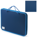 Папка на молнии пластиковая с ручками BRAUBERG А4, 350*270*45 мм, фактура бисер, синяя