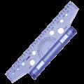 Линейка с роликом (рейсшина), СТАММ пластиковый ролик, 30см, с транспортиром, прозрачная