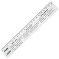 """Линейка пластик 20 см СТАММ """"Единицы измерения"""", прозрачная, ЛС01"""