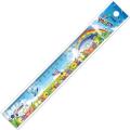 """Линейка пластик 20 см СТАММ """"Радуга"""", широкая, с рисунком, ЛН139"""