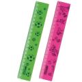 """Линейка пластик 20 см СТАММ """"Neon"""", широкая, непрозрачная, с рисунками ассорти, ЛН102"""