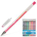 Ручки гелевые BEIFA (Бэйфа), НАБОР 10шт, узел 0,7мм, линия 0,5мм, ассорти, PX888-10