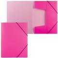 Папка на резинках «Хатбер» HD, А4, «Неоново-розовая», до 300 листов, 0,7 мм