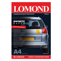 Бумага с магнитным слоем LOMOND глянцевая  д/струйной печати, А4, 2л, 660 г/м2, 2020345