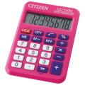 Калькулятор CITIZEN карманный LC-110NPKCFS, 8 разрядов, двойное питание, 87х58мм, РОЗОВЫЙ