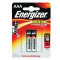 Батарейки ENERGIZER MAX ААА LR03, КОМПЛЕКТ 2шт., АЛКАЛИН, 1.5B, (работают до 10 раз дольше)