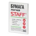Бумага писчая STAFF, 100 листов, формат А4, 55 г/м