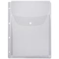 Папка-файл перфорированная А4 объемная до 200 листов, КЛАПАН С КНОПКОЙ, 0,18 мм, ДПС, 2308