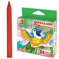 """Восковые карандаши ЛУЧ """"Zoo"""", 24цв, шестигранные, картонная упаковка с европодвесом"""