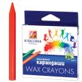 """Восковые карандаши ЛУЧ """"Классика"""", 24 цв, круглые, картонная упаковка с европодвесом"""