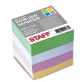 Блок для записей STAFF проклеенный, куб 8*8 см, 800 листов, цветной, чередование с белым, 120383