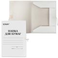 Папка для бумаг с завязками картонная STAFF, гарантированная плотность 310 г/м, до 200 листов
